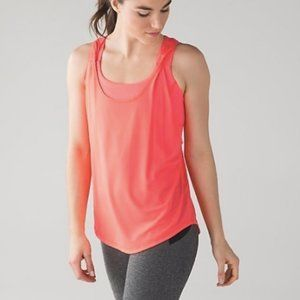 Lululemon 2 in 1 Ready & Go Coral Tank